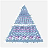 Christmas fir — Stock Vector