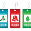 Stock Vector: Price tags - Christmas edition