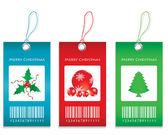 Etiquetas de precios - edición navidad — Vector de stock
