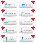 Web sitesi düğmeleri - christmas edition — Stok Vektör