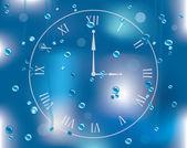 Vector regendruppels op glas — Stockvector