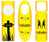 Do not disturb door hanger with halloween design — Stock Vector