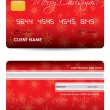 Special credit card with Christmas design — Stock Vector