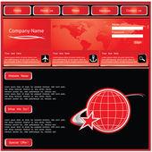 Modèle de conception de site web — Vecteur