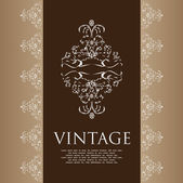 Vintage cover — Vector de stock