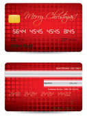 Special Christmas credit card design — Stock Vector