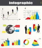 Infographic vector graphs and elements — Stock Vector