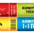 Set of ticket admit one vector — Stock Vector #7405824