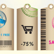 Price tags. Vector — Stock Vector