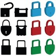 Lock icons — Stock Vector #7650545
