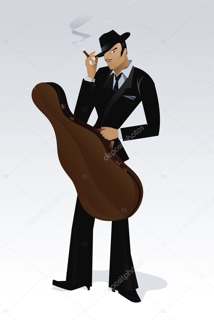 Jazz player  — Stock Vector #6885472