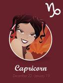 Capricorn zodiac sign — Stock Vector