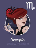 Scorpio zodiac sign — Stock Vector