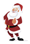Santa thumb up — Stock Vector