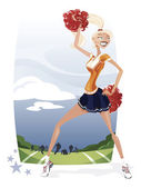Cheerleader — Stock Vector