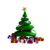 3d - árbol de navidad — Foto de Stock