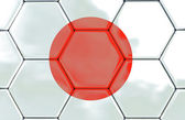 3D - Soccer texture - Japan — Stock Photo