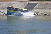 Amphibious bus Budapest Danube 09_11_2011 — Stock Photo