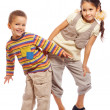 Royalty-Free Stock Photo: Two funny little children standing together
