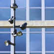 Lamppost in front of a Corporate Building — Stock Photo