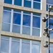 Lamppost and Corporate Building — Stock Photo