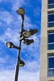 Lamppost over blue sky — Stock Photo