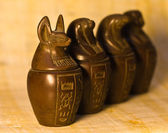 Canopic Jars Figurines — Stock Photo