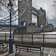 Tower Bridge in London. UK - Stock Photo