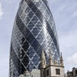 London Swiss Re Building the Gherkin - Stock Photo