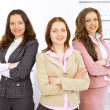 Young business women in modern office — Stock Photo