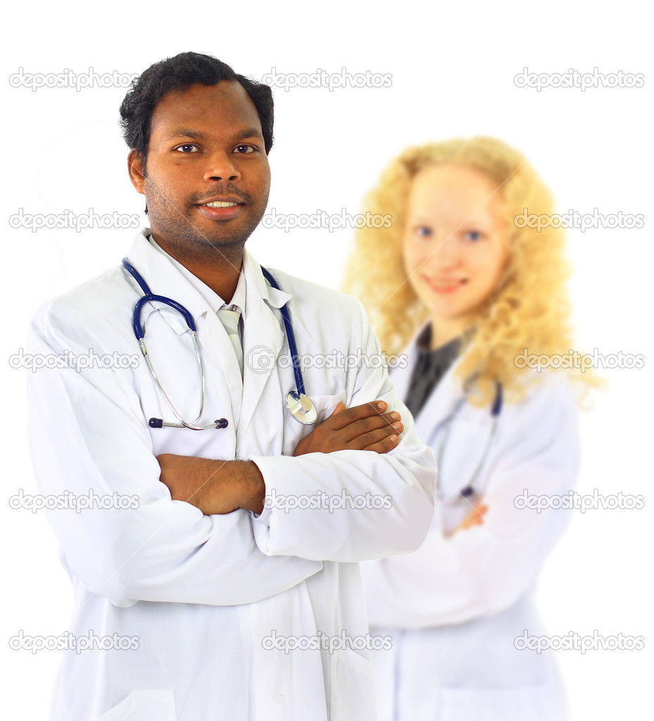 African American Man and Woman Medical Workers  — Stock Photo #7278603