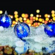 Colorful blue christmas balls — Stock Photo