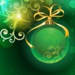 Royalty-Free Stock Vector Image: Christmas background with bauble