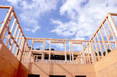 New wooden house construction — Stock Photo