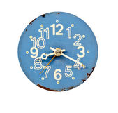 Vintage blue and grunge clock dial — Stock Photo