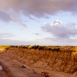 Clay quarry in evening — Stock Photo