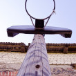 Stock Photo: Basketball backboard in province