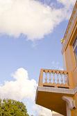 House fragment with balcony — Stock Photo