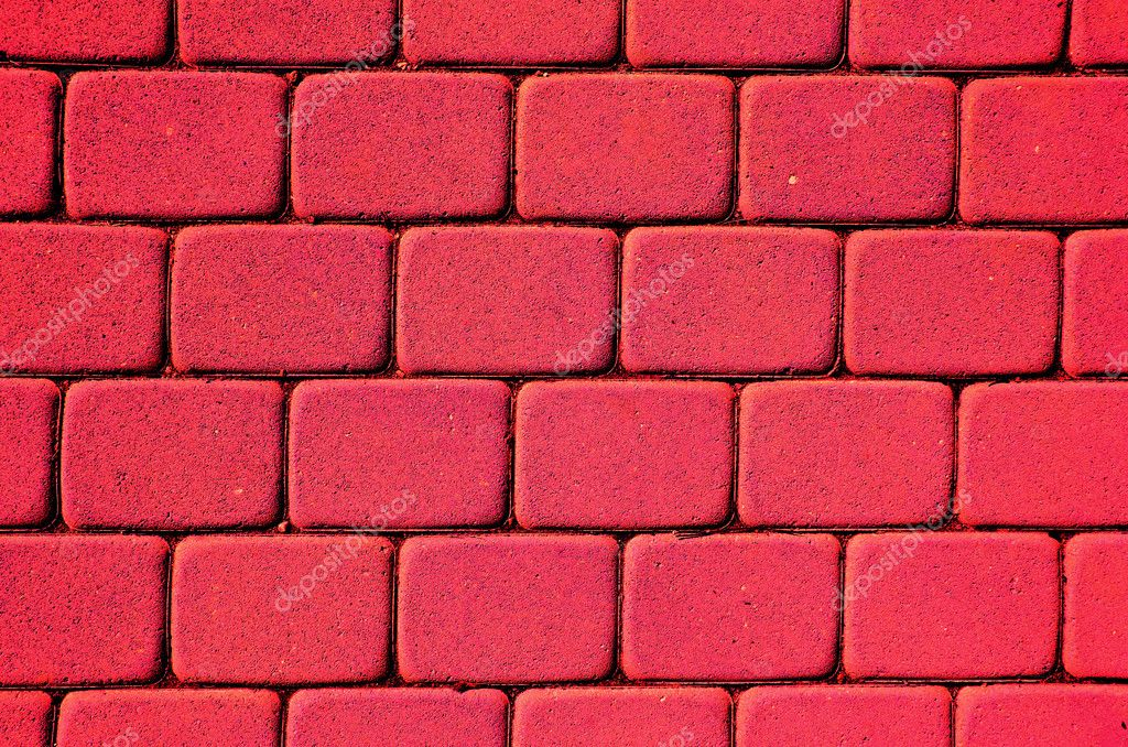 Painted red bricks background and texture — Stock Photo #6952184