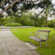 Bench in the resort park — Stock Photo