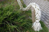 Old rope in the resort street — Stock Photo