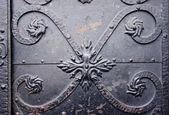 ビンテージ金属ドア フラグメント — ストック写真