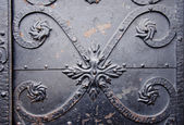 Fragmento de puertas de metal vintage — Foto de Stock