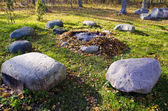 秋の石の暖炉 — ストック写真
