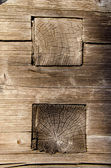 Old wood house construction detail — Stock Photo