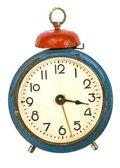 Vintage alarm-clock isolated on white — Stock Photo