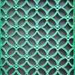 Ornamental green door lattice — Stock Photo