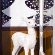 Christmas hind in cafe door — Stock Photo #7862436