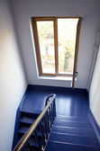 Blue staircase and window — Photo