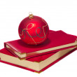 Christmas ball on calendars — Stock Photo